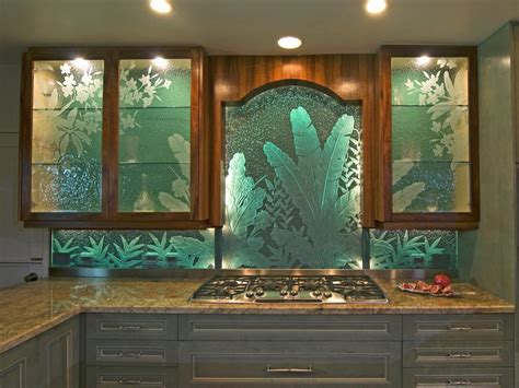 frosted glass backsplash in kitchen photos hgtv