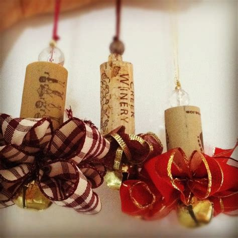 bell and ribbon wine cork ornament put a cork in it