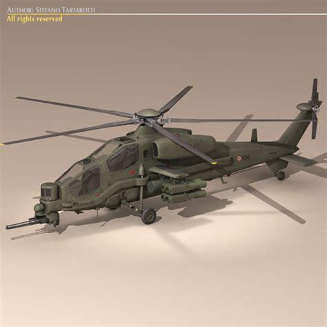 Agusta A129 Mangusta Textured 3d Model