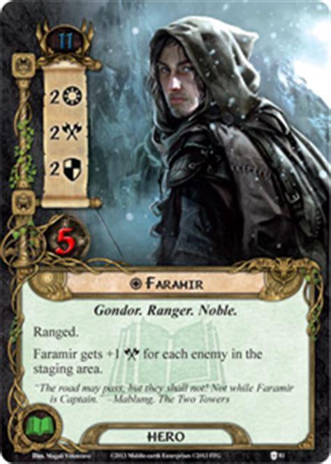 lotr lcg deck lists faramir assault on osgiliath lord of the rings lcg