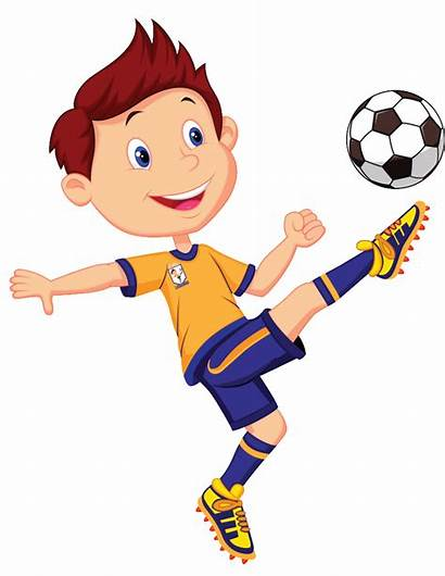 Football Clipart Player Clip Playing Boy Play