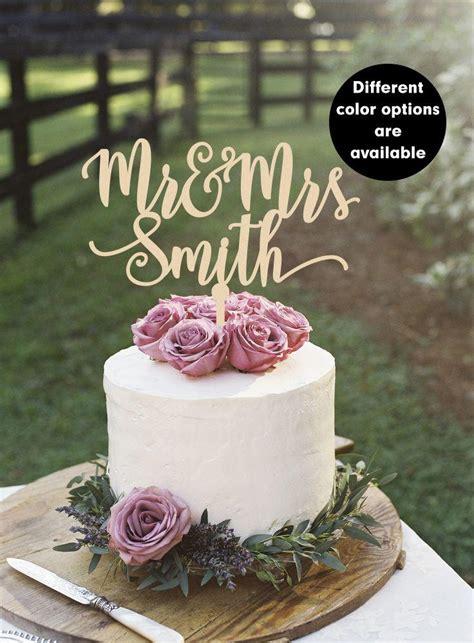 Surname Cake Topper Custom Wedding Cake Topper