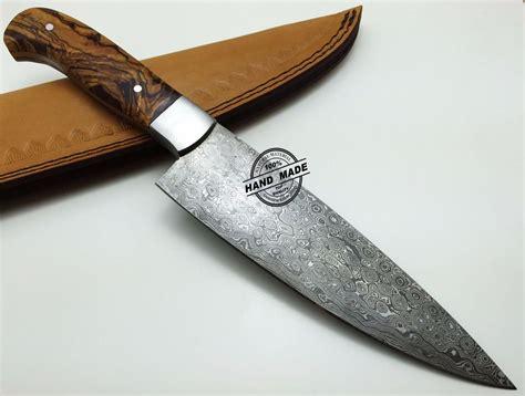 Regular Damascus Kitchen Knife Custom Handmade Damascus Steel4