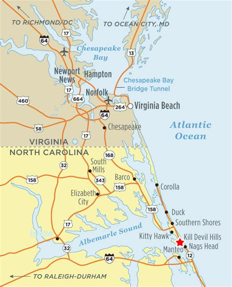 Directions to Outer Banks | Outer Banks Vacation Guide