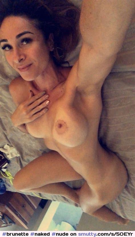 Brunette Naked Nude Tits Tanlines Bed Selfie