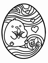 Easter Egg Coloring Printable Sheets Hunt Ready These Pdf Chick sketch template