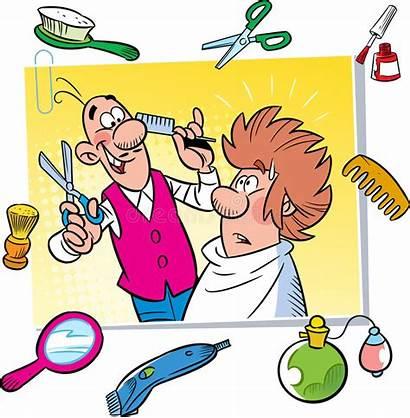 Cartoon Funny Barbershop Hairdresser Short Salon Stories