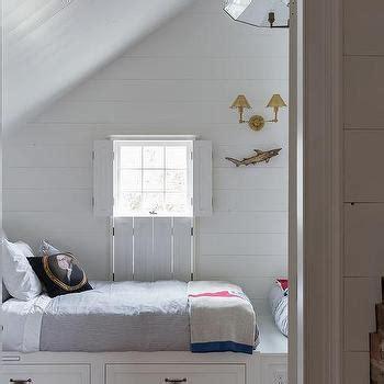 attic boys room  built  beds cottage boys room
