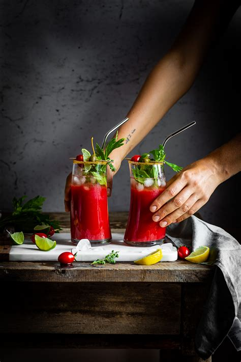 alcoholic bloody mary water kefir virgin mary mocktail