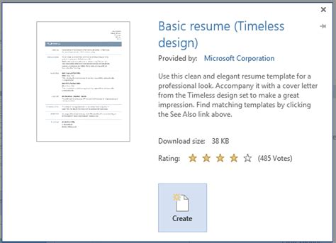 how to create a professional resume with word 2013