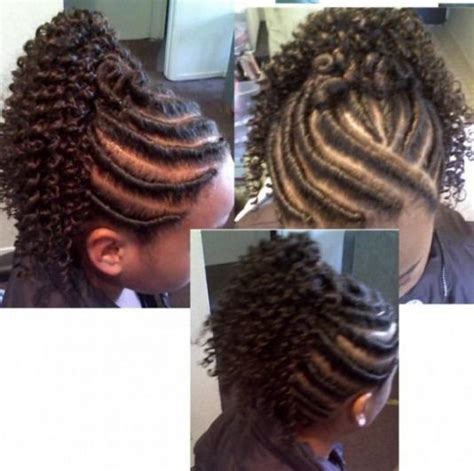 Flat Twist Ponytail Hairstyles by Flat Twist Updo With Extensions Below Flat Twist With