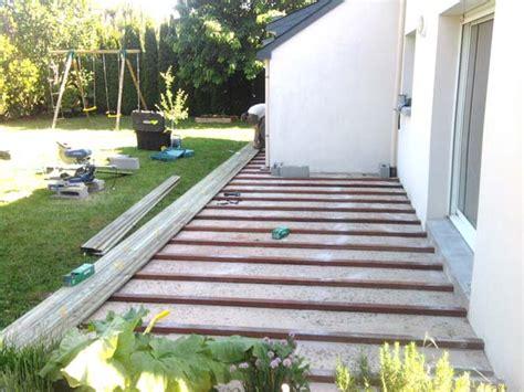 terrasse bois sur dalle beton plots pour terrasse en bois plot terrasse bois sur enperdresonlapin