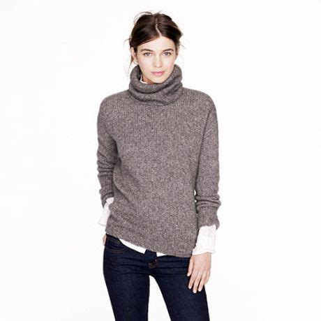 chunky womens sweaters j crew nili lotan chunky turtleneck sweater in gray hthr