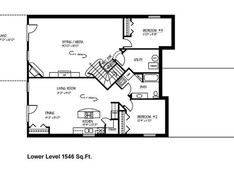 house plans with finished walkout basements small ranch house floor plans with basement on 1600 sq ft