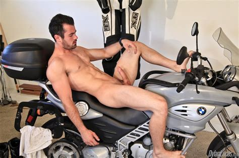 Men Clothed To Naked Brock Cooper Motorcycle