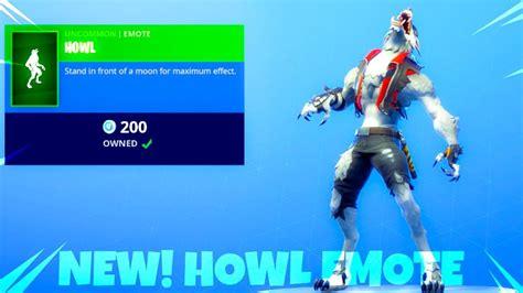 fortnite item shop  wolf howl emote fortnite battle