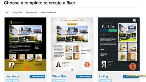 real estate flyer templates  print today