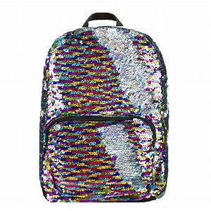Rainbow/Silver Magic Sequin Backpack