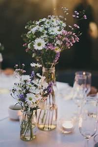 decoration mariage champetre deco de table nature With chambre bébé design avec bouquet de fleurs pour un mariage