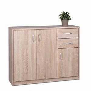 Sideboard Eiche Sonoma : sideboard koblenz 2 eiche sonoma 109x85x35 cm anrichte wohnzimmer wohnbereiche wohnzimmer ~ Indierocktalk.com Haus und Dekorationen