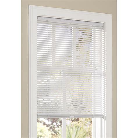 cordless vinyl mini blinds shop allen roth 1 in cordless white vinyl light