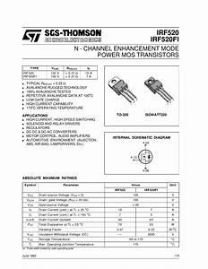 Transistor Irf520 - Manual Sonigate By Sonigate