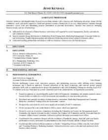 best career objective for assistant professor resume free assistant professor resume exle