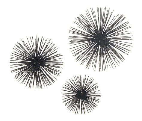 3 piece star wall decors country of origin: Deco 79 72968 Iron Starburst Wall Sculptures Set of 3 Black/Silver ** Details can be found by ...