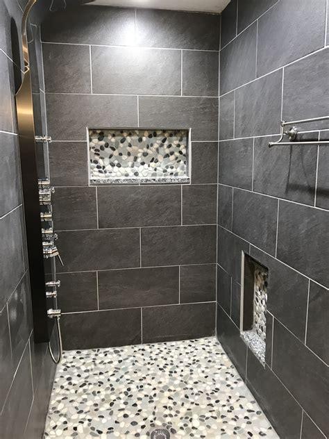 Gray Pebble Tile   Tile Design Ideas