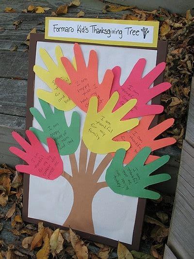 thanksgiving handprint tree craft crafts  amanda
