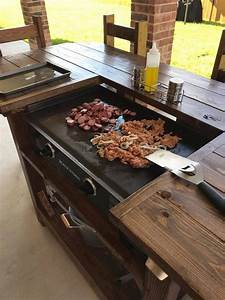 Custom made Blackstone Griddle table with 5 bar style ...