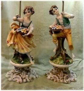 antique porcelain figurine table ls vintage pair ceramic statue figurine couple table l