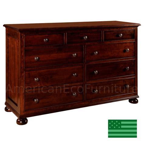 real wood bedroom dresser amish rosemead 9 drawer dresser solid wood made in usa