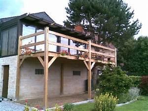 cout d une terrasse en bois sur pilotis evtod With cout d une terrasse en bois
