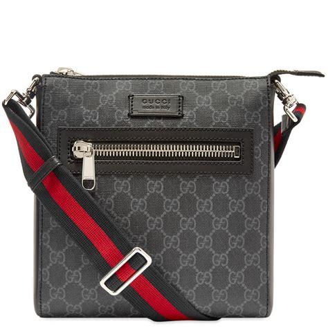 gucci gg supreme messenger bag black