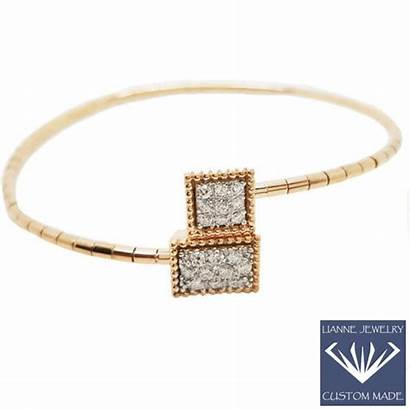Bangle Rose Unique Bracelet 18k Diamonds Grams
