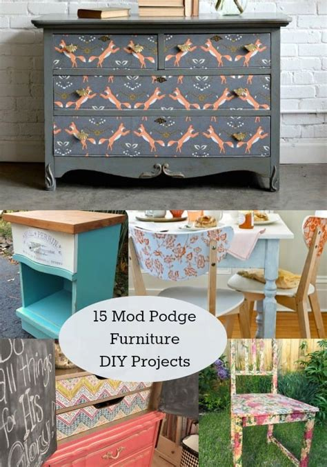 prep furniture  decoupage mod podge rocks