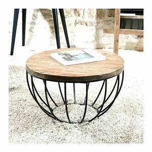 Table Basse Fer Et Bois : table basse ronde bois et fer ~ Teatrodelosmanantiales.com Idées de Décoration