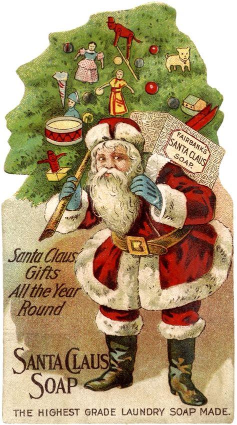 santa soap ad  graphics fairy