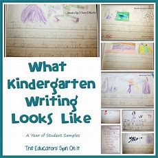 The Educators' Spin On It What Kindergarten Writing Looks Like  A Year Of Student Samples