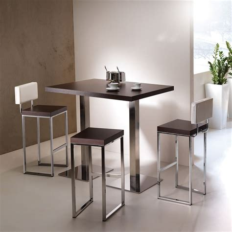 table inox cuisine table haute flash db noir brillant achat vente mange