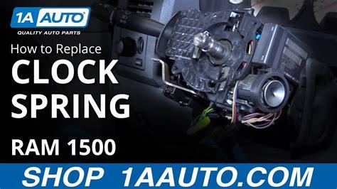 install replace airbag clock spring  dodge ram
