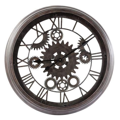 horloge maison du monde horloge indus en m 233 tal d 82 cm contre temps maisons du monde