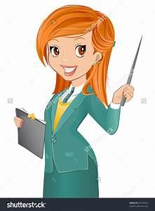 Female english teacher clipart