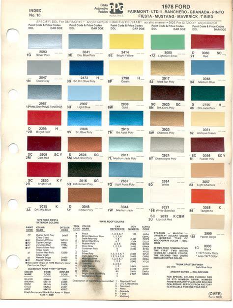ford paint codes car interior design