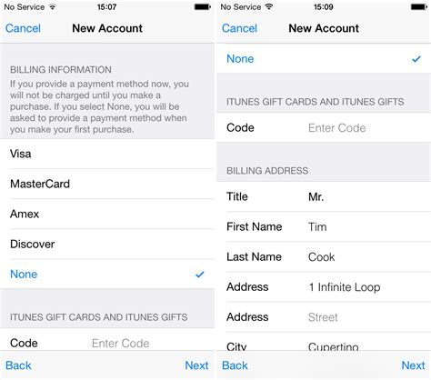 Creating an apple id without credit card or other payment method. How to create an Apple ID without a credit card