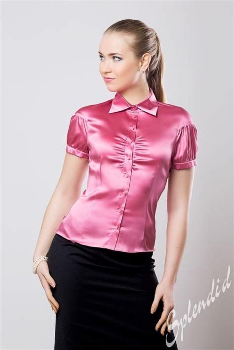 satin blouse pink satin blouses silk pintuck blouse