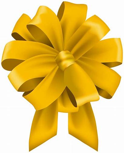 Yellow Bow Clip Clipart Transparent Yopriceville