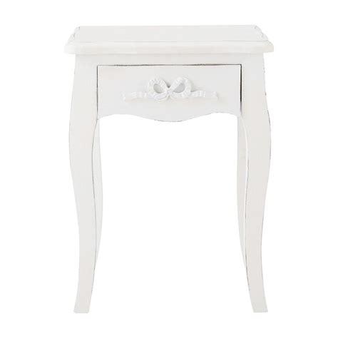 maisons du monde chevet table de chevet avec tiroir en bois blanc l 40 cm maisons du monde