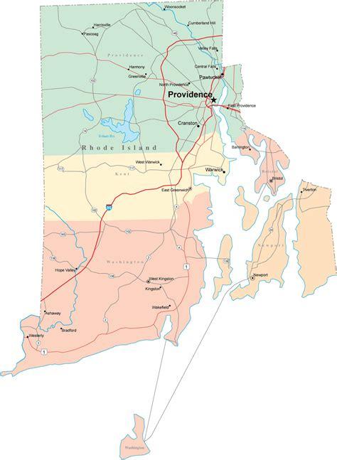 rhode island road map rhode island mappery